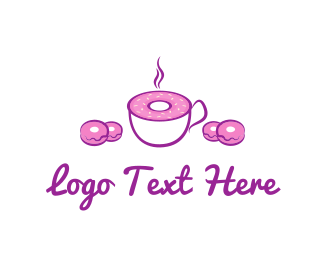 Bread - Pink Bakery & Coffee logo design