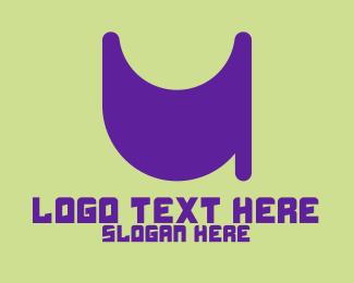 Letter U - Purple Letter U logo design