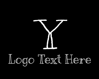 School - Blackboard Handwritten Letter Y logo design