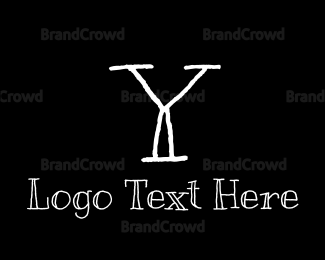 Kids - Handwritten Letter Y logo design