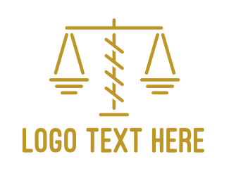 Court House - Thin Scale Outline logo design