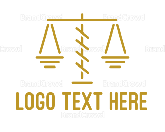 Lawyer - Thin Scale Outline logo design