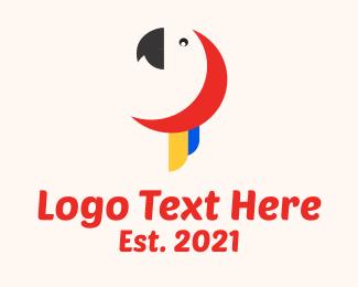 Parrot - Minimalist Parrot Head logo design