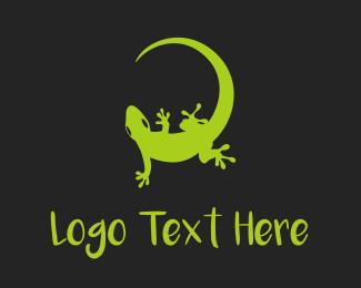Iguana - Green Gecko logo design