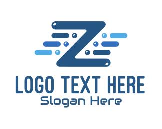 Letter Z - Tech Letter Z logo design