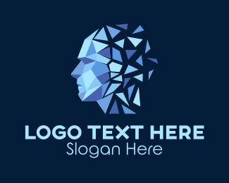 Psychologist - Geometric Human Brain  logo design