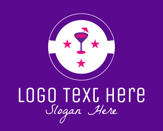 Celebrate - Cocktail Party Drink logo design