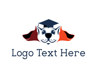 Cape - Graduation Dog logo design
