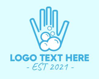 Hygiene - Bubble Soap Hand Sanitizer Clean logo design