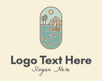 Fishing Boat - Lake Yacht Travel logo design
