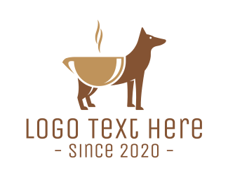 Brown Dog - Dog Friendly Cafe logo design
