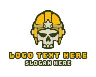 Fortnite - Esport Gaming Skull Helmet logo design