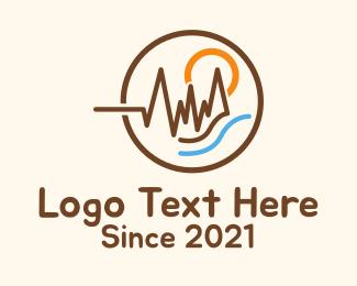 Mountaineering Club - Outdoor Lifeline Scenery logo design