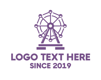 Attraction - Violet London Eye logo design