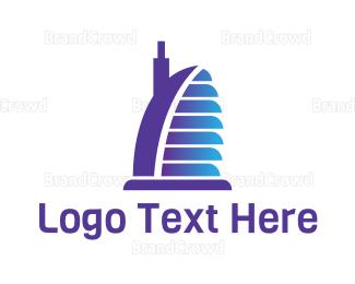 Dubai - Blue Burj Al Arab logo design