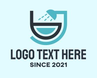Ceramic - Bathroom Fixture Letter B logo design