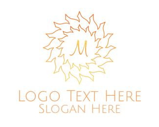 Arid - Summer Sun Lettermark logo design