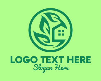 Environment - Eco Green House logo design