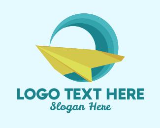 Airplane Wave Travel Logo