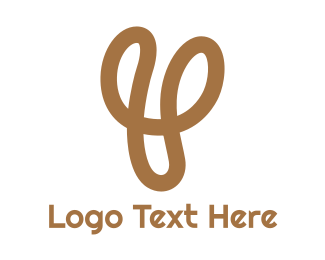 Leisure - Gold Y Stroke logo design