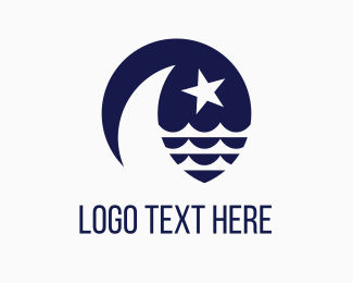Yacht - Blue Moon & Star logo design