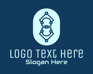 Medtech - Blue Tech Pill logo design