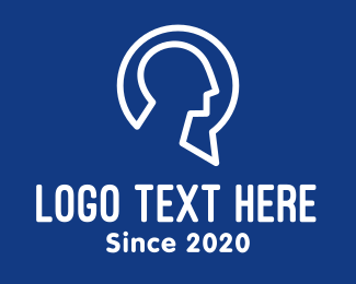 Psychotherapy - Human Psychiatry Consultation logo design