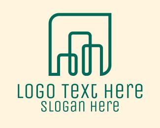 Line Art - Building Line Art logo design