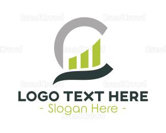 Account - Business Stroke Monogram logo design