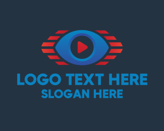 Stream - Youtube Video Stream Eye logo design