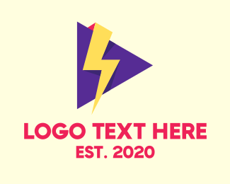 Stream - Thunder Streaming Application logo design