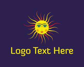 Sunny - Sun Face logo design