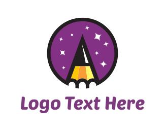 Graphite - Pencil & Stars logo design