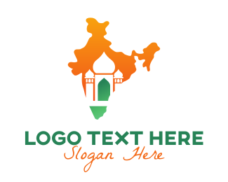 Abstract Indian Temple Logo