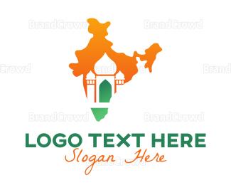Bangladesh - Abstract Indian Temple logo design
