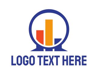 Stock Market - Circle Graph logo design
