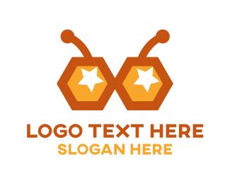 Honeybee - Bee Glasses logo design