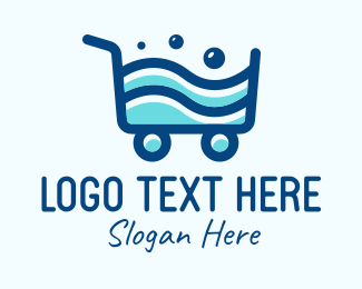 Shopping Cart - Laundry Shopping Cart logo design