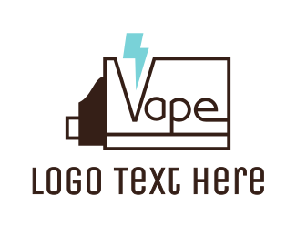 E Juice - Thunder Vapes logo design