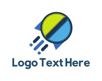 Drug Store - Rocket Pill  logo design