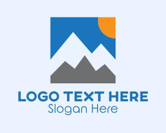 Image - Simple Mountain Vista logo design