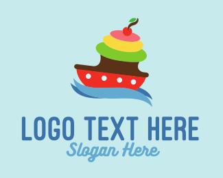 Delicious - Cake Boat logo design