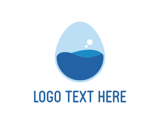 Science - Egg Lab Bubble logo design