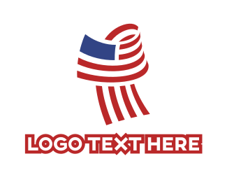 Us - USA Flag logo design