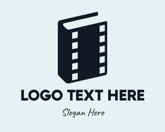 Video Recording - Movie Book logo design