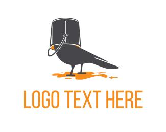 Comedy - Bird Paint logo design