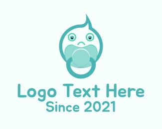 Pacifier - Baby Pacify logo design