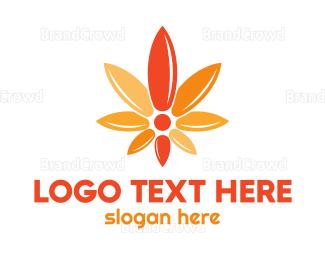 Cbd - Cannabis Flower logo design