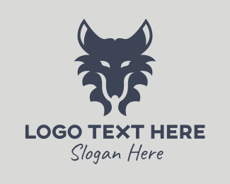 Dragon Head - Wild Wolf Head logo design