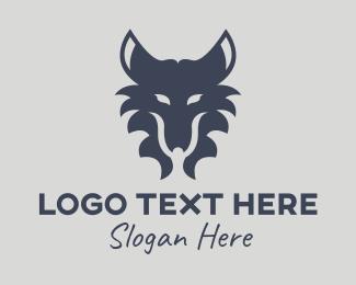 Full Moon - Wild Wolf Head logo design